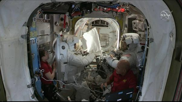 Watch: NASA astronauts conduct ISS spacewalk