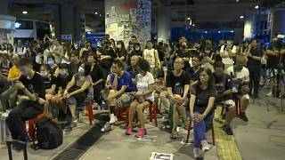 Watch again: Hong Kong protests continue on anniversary of mob attack