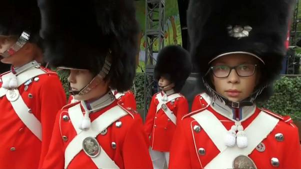 The  Youth Guard are girls and boys aged 8 to 16