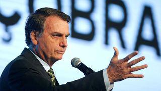 Bolsonaro bei einer Rede in der Stadt Brasília in Brasilien