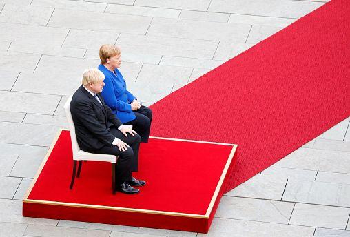 Watch live: Boris Johnson and Angela Merkel meet in Berlin for Brexit talks