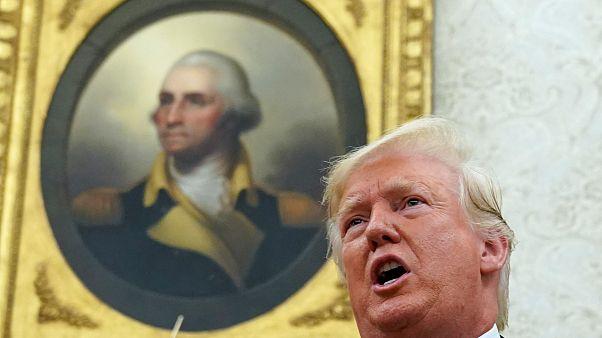 الرئيس الأمريكي دونالد ترامب في البيت الأبيض بواشنطن- رويترز