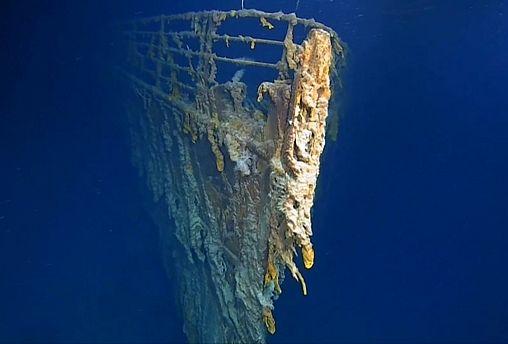 O Titanic está a desaparecer