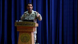 صورة أرشيفية للمتحدث الرسمي باسم التحالف بقيادة السعودية في اليمن العقيد تركي المالكي