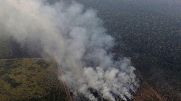 """""""Nuestra casa se está quemando"""": Macron insta al G7 a abordar la crisis del Amazonas"""