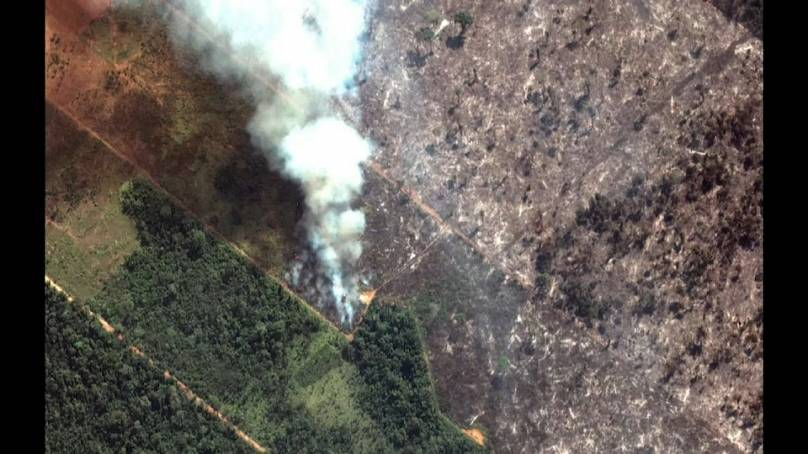Macron, Johnson call Amazon rainforest fires an 'international crisis'