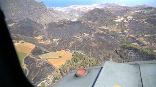 Gran Canaria trata de recuperarse del peor incendio en España desde 2012
