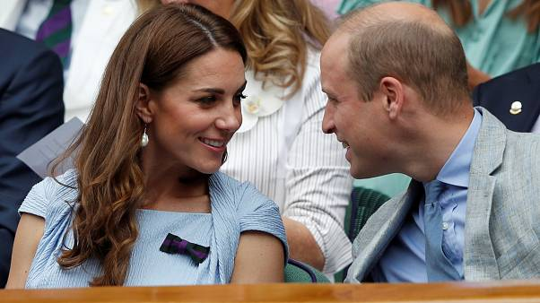 The Duke and Duchess of Cambridge at the men's final at Wimbledon in July 2019.