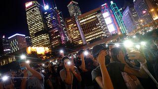 Des chaînes humaines à Hong Kong pour symboliser le mouvement pro-démocratie