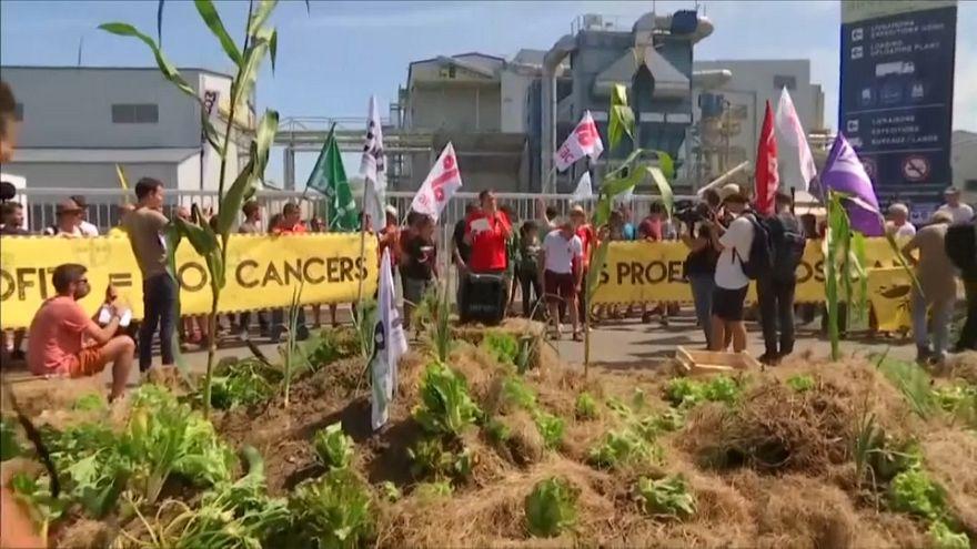 G-7 Zirvesi öncesinde Fransa'da 'glifosat karşıtı' eylem