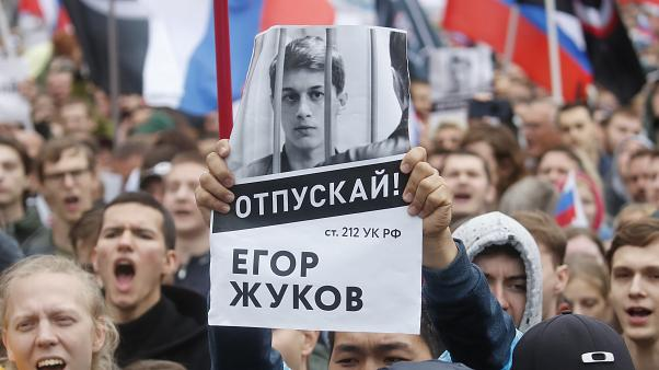 A rally to demand authorities allow opposition candidates to run in the upcoming local election in Moscow, Russia August 10, 2019.