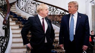 الرئيس الأمريكي دونالد ترامب رفقة رئيس الوزراء البريطاني بوريس جونسون خلال قمة مجموعة السبع