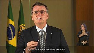 Le président du Brésil, Jair Bolsonaro, le 23/08/2019
