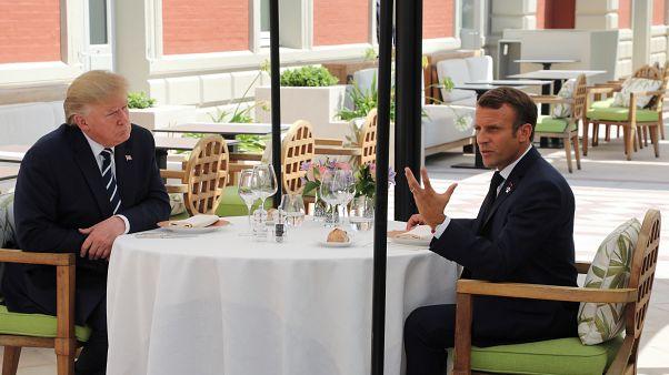 Trump e Macron encontraram-se antes do arranque formal da cimeira