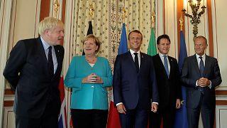 BoJo az európai vezetőkkel a G7-ek biarritzi csúcsértekezletén