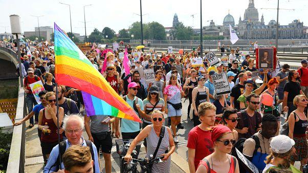 """""""#Unteilbar"""": 35.000 Menschen demonstrieren gegen Rechts"""