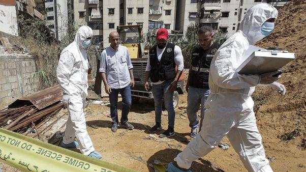 Lübnan askeri istihbaratı adli birimi, İsrail'e ait İHA'ların düştüğü bölgede incelemelerde bulundu