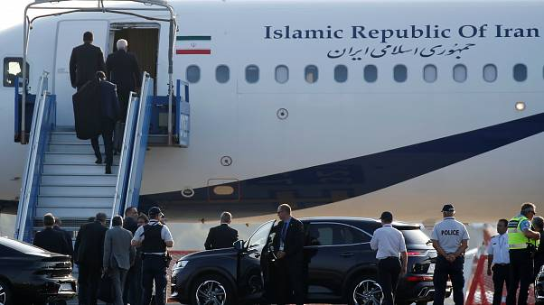 An Iranian government plane landed on the tarmac in Biarritz in a surprise visit during the G7 Summit
