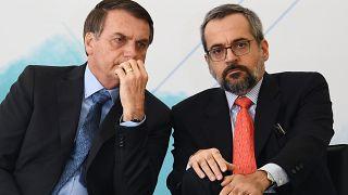 Jair Bolsonaro et son ministre de l'Education, Abraham Weintraub