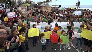 شاهد: احتجاجات في البرازيل للمطالبة بحماية غابات الأمازون