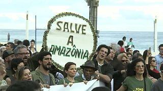 Rio: Tausende protestieren gegen Bolsonaros Umweltpolitik