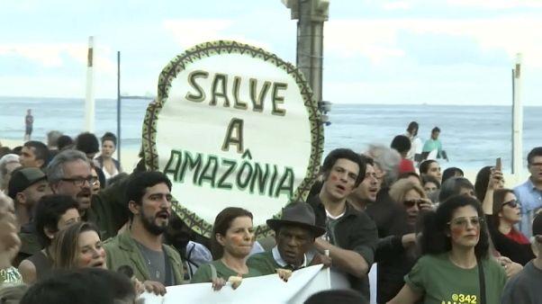 Protestos no Rio de Janeiro contra incêndios na Amazónia