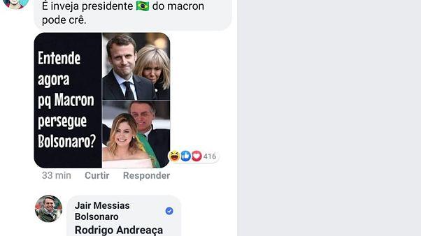 Internet-Zoff zwischen Bolsonaro und Macron