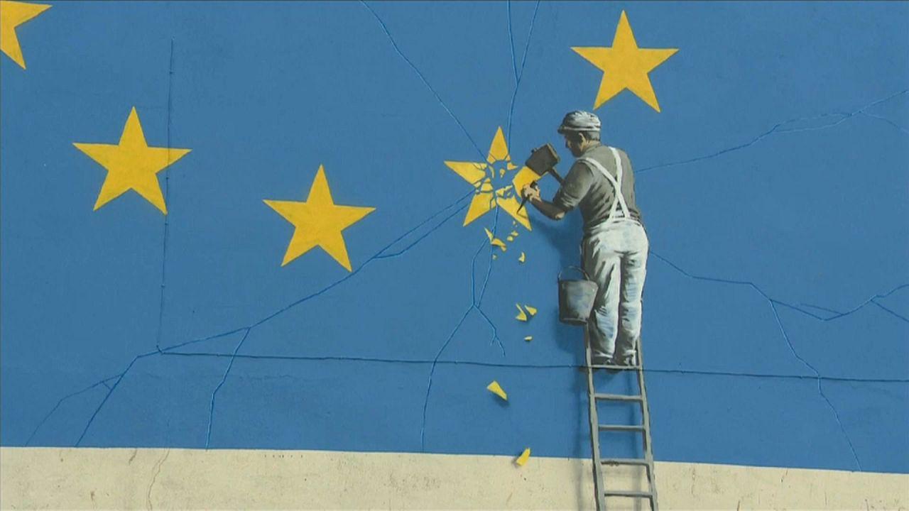 Banksy: scomparso il suo murale sulla Brexit