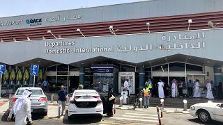 منظر عام لمدخل مطار أبها السعودية