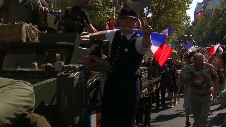 جشن ۷۵ سالگی آزادی پاریس از دست نازیها