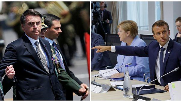 آمازون در آتش؛ ادامه درگیری لفظی رهبران برزیل و فرانسه