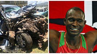 البطل الأولمبي الكيني ديفيد روديشا ينجو من حادث سير مميت