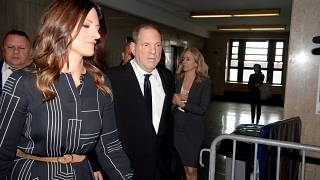 Film producer Harvey Weinstein arrives for a hearing in New York State Supreme Court in the Manhattan borough of New York, U.S., August 26, 2019.