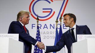 El Trump más constructivo aflora en Biarritz