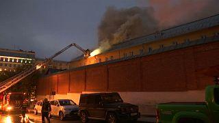 Москва: пожар в монастыре мог вспыхнуть из-за короткого замыкания