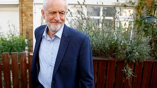 Britain's opposition Labour Party leader Jeremy Corbyn leaves his home in London, Britain August 27, 2019.