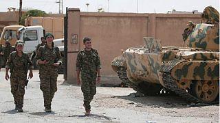 آغاز عقبنشینی نیروهای کرد از مناطق مرزی ترکیه در شمال سوریه