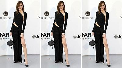 New face of Chanel beauty Teddy Quinlivan at amfAR's Cinema Against AIDS 2019