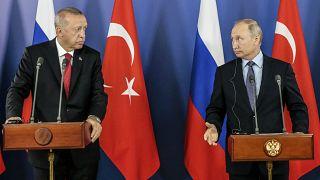 Cumhurbaşkanı Recep Tayyip Erdoğan ile Rusya Devlet Başkanı Vladimir Putin ortak basın toplantısı düzenlendi