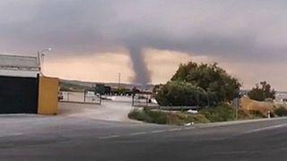 Costa de Sol: Tornado über Malaga