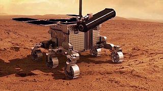 """Animation du rover """"Rosalind Franklin"""" de la mission ExoMars 2020"""