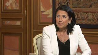 La presidenta de Georgia Zurabishvili ve una oportunidad en el Brexit