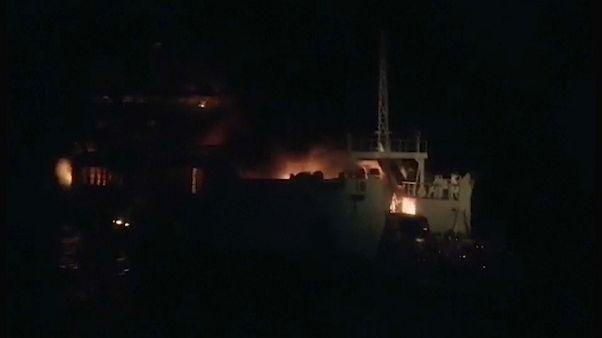 Al menos tres muertos en el incendio de un ferri en Filipinas