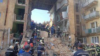 حادث إنفجار الغاز يهز مدينة دروهوبيش في غرب أوكرانيا