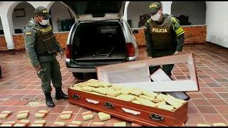 Kolombiya'da tabuta saklanmış esrar bulundu