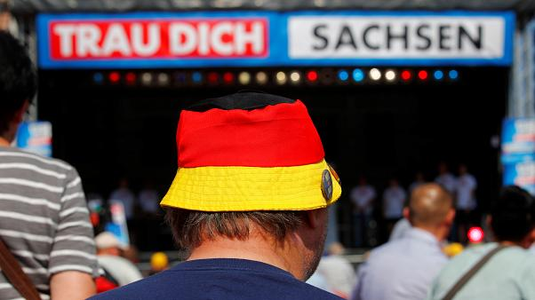 Bucket hat emblazoned with the German Flag