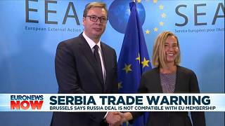 EU warns Serbia to cancel free trade pact with Russia if it wants to join bloc