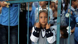 طفلة فلسطينية - خان يونس، قطاع غزة- أرشيف رويترز