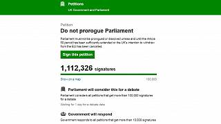 More than 1 million people sign UK petition against suspension of Parliament