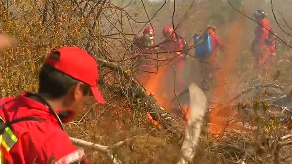 Batalla interminable contra el fuego en Bolivia